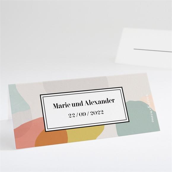 Tischkarte Hochzeit Pastell réf.N440720