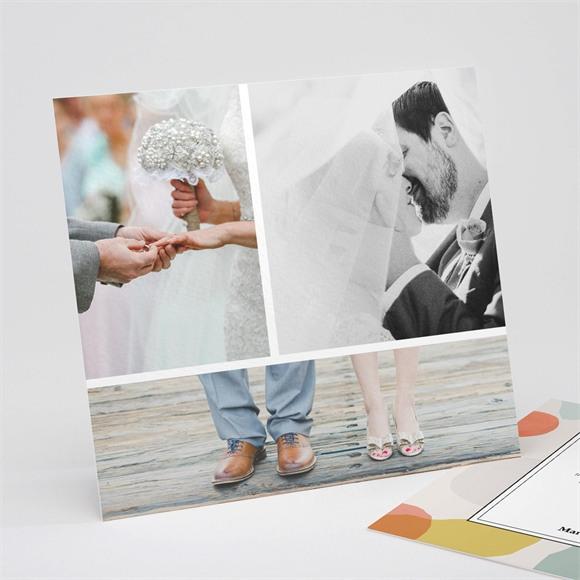 Danksagungskarte Hochzeit Pastell réf.N311240
