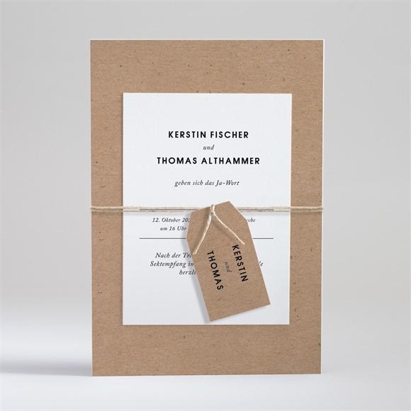 Einladungskarte Hochzeit Naturbelassen réf.N99101