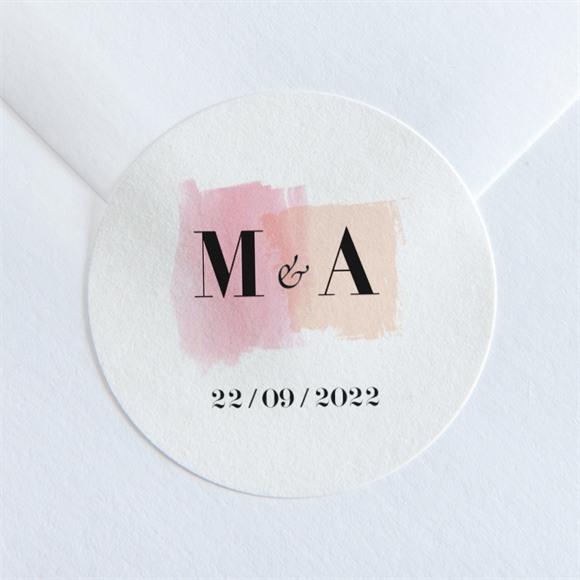 Aufkleber Hochzeit Pastell réf.N36001