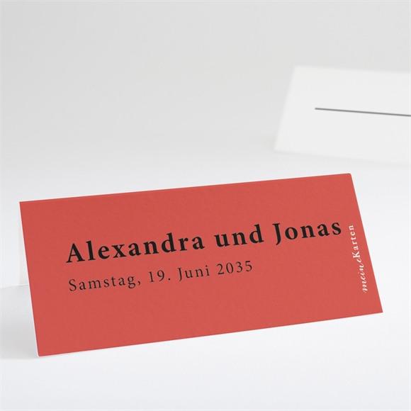 Tischkarte Hochzeit Karmin réf.N440723
