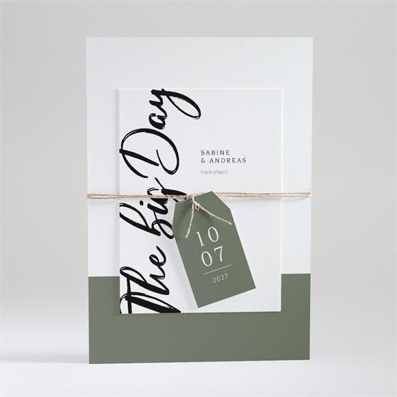 Einladungskarte Hochzeit The big Day réf.N99103