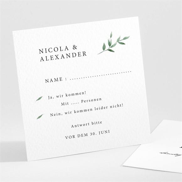 Antwortkarte zur Hochzeit