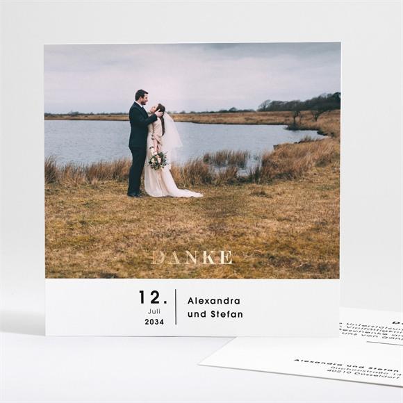 Danksagungskarte Hochzeit Blick in die Ferne réf.N35113