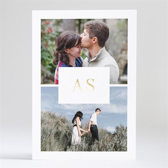 Einladungskarte Hochzeit Spiegel der Liebe réf.N241157