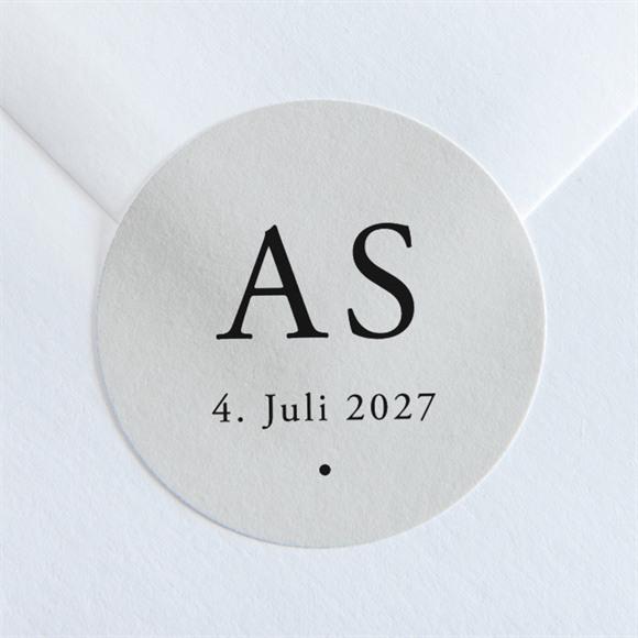 Aufkleber Hochzeit Spiegel der Liebe réf.N36009