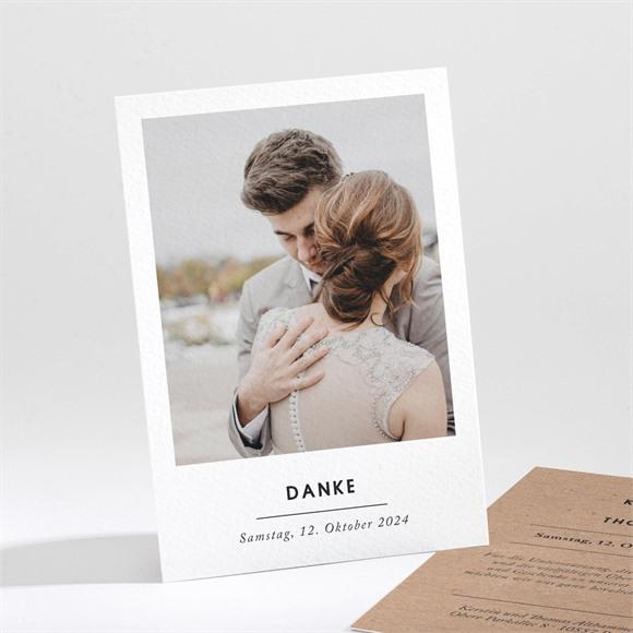 Danksagungskarte Hochzeit Naturbelassen réf.N211212