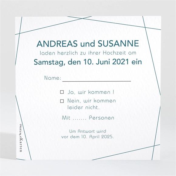 Antwortkarte Hochzeit Tiefes Blau réf.N3001553