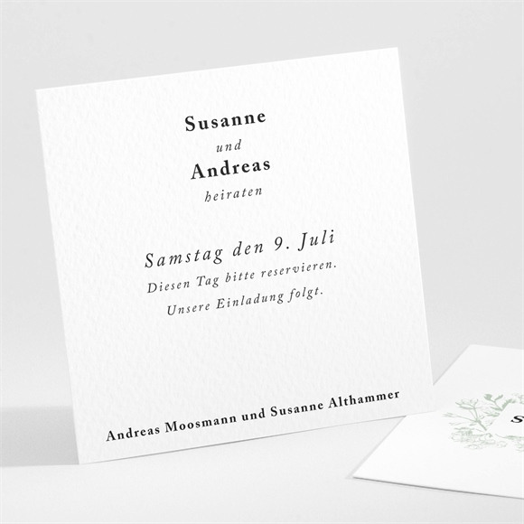 Save the Date Hochzeit Farn réf.N301104