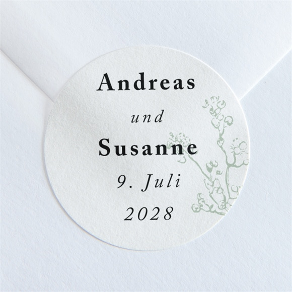 Aufkleber Hochzeit Farn réf.N36012