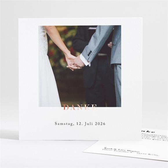 Danksagungskarte Hochzeit Liebe im Rahmen réf.N35115