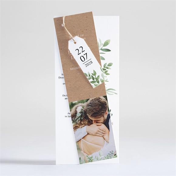 Einladungskarte Hochzeit Blätterschmuck réf.N93101
