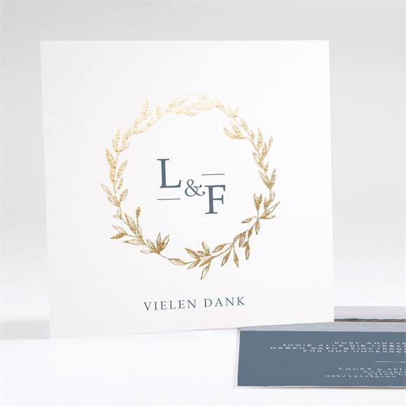 Danksagungskarte Hochzeit Goldkranz réf.N35123