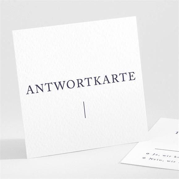 Antwortkarte Hochzeit Design Pur réf.N301120