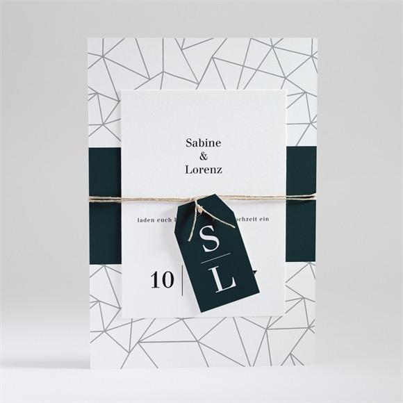 Einladungskarte Hochzeit Geometrie réf.N99111