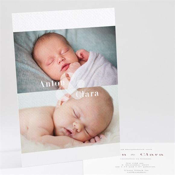 Geburtskarte Und es sind Zwei réf.N241165