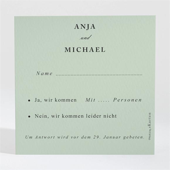 Antwortkarte Hochzeit Mandelgrün réf.N3001559
