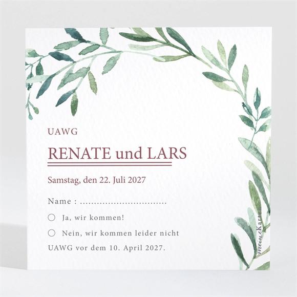 Antwortkarte Hochzeit Schlichte Natur réf.N3001561