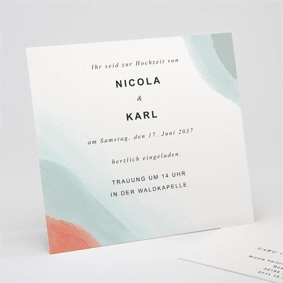 Einladungskarte Hochzeit Pastell abstrakt réf.N311243