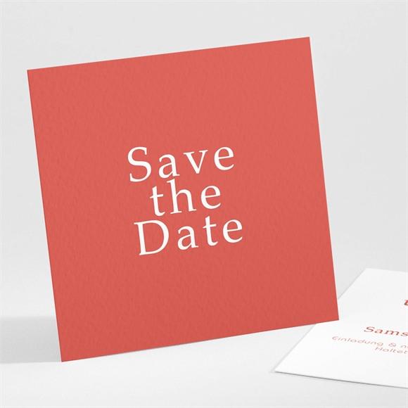 Save the Date Hochzeit Glänzende Koralle réf.N301135