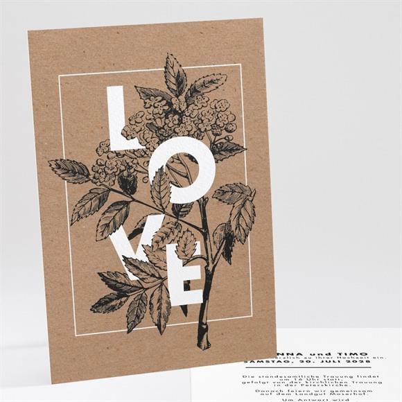 Einladungskarte Hochzeit Kastanienzweig réf.N241170