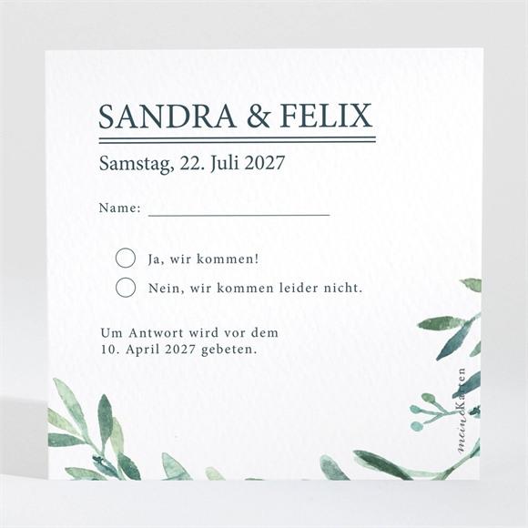 Antwortkarte Hochzeit Blätterkranz réf.N3001567
