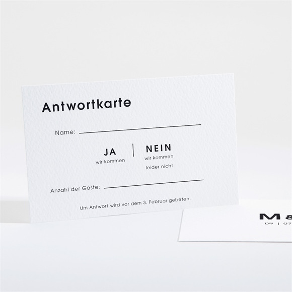 Antwortkarte Hochzeit Pure Design réf.N16167