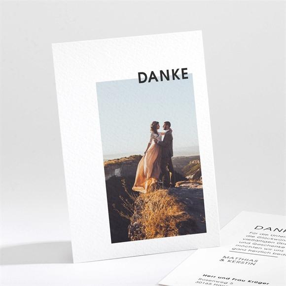 Danksagungskarte Hochzeit Pure Design réf.N211228