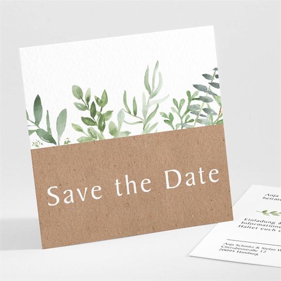 Save the Date Hochzeit Zierliches Laub réf.N301153