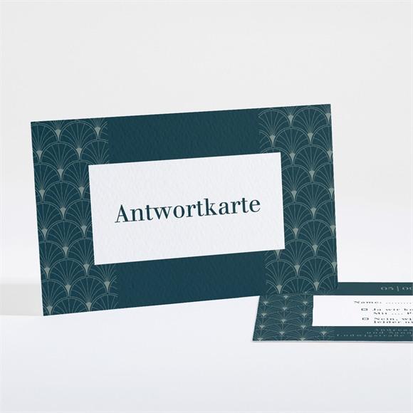 Antwortkarte Hochzeit Art Deco Eleganz réf.N16180