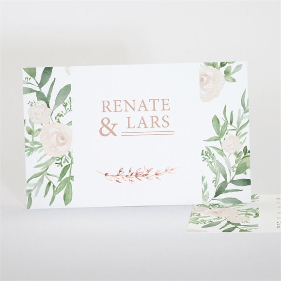 Antwortkarte Hochzeit Frühlingsrosen réf.N17126