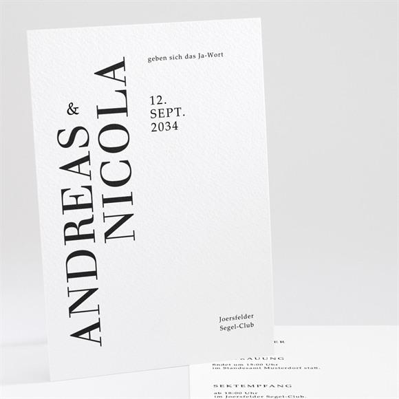 Einladungskarte Hochzeit Moderne Grafie réf.N241191