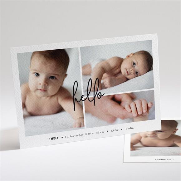 Geburtskarte Hello mit Fotos réf.N14195