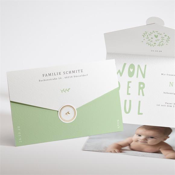 Geburtskarte Wonderful Boy réf.N97120
