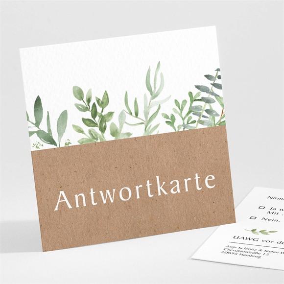 Antwortkarte Hochzeit Zierliches Laub réf.N301154