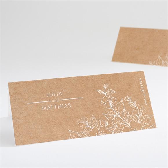 Tischkarte Hochzeit Elegante Gravur réf.N440748