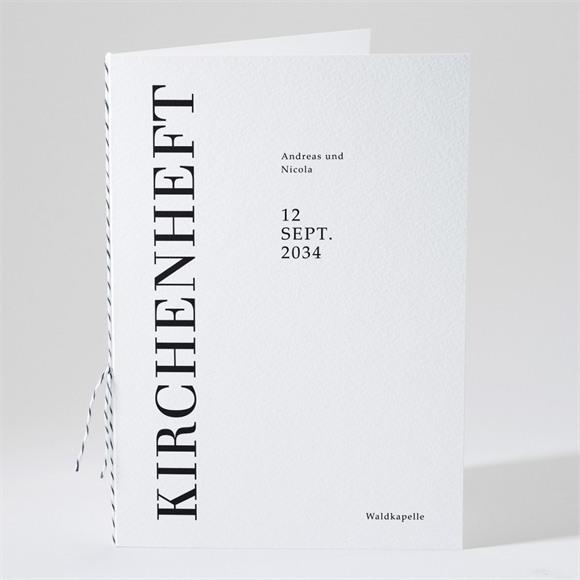 Kirchenheft Hochzeit Moderne Grafik réf.N491191