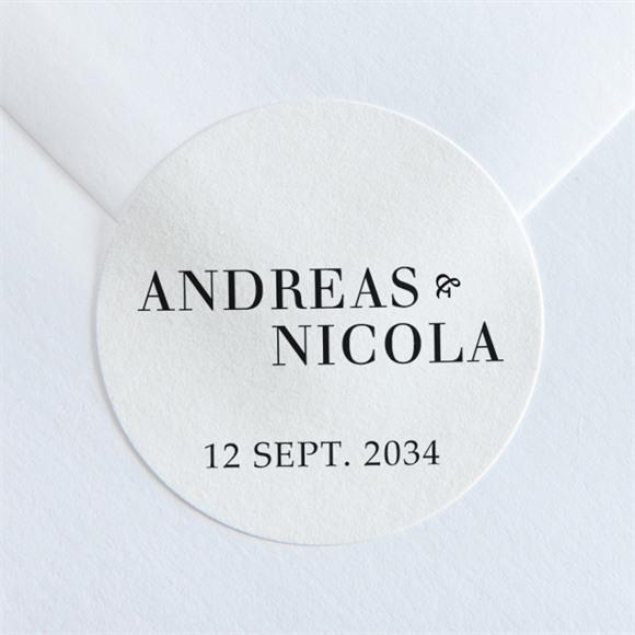 Aufkleber Hochzeit Moderne Grafie réf.N36052