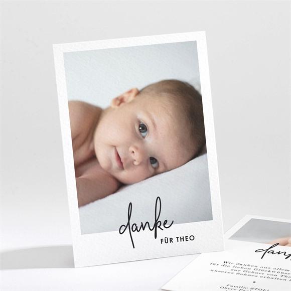 Danksagungskarte Geburt Hello mit Fotos réf.N211266