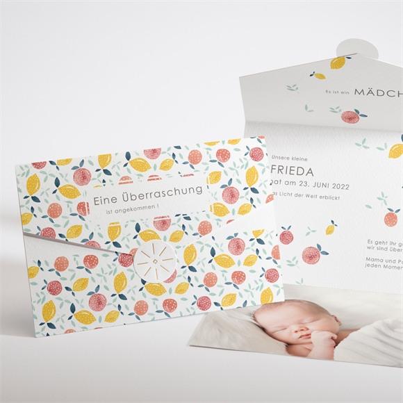 Geburtskarte Zitrusfrucht réf.N97109