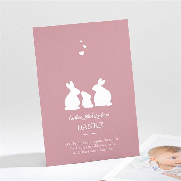 Danksagungskarte Geburt Silhouetten réf.N211263