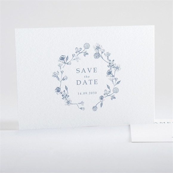 Save the Date Hochzeit Blumengesteck réf.N15111