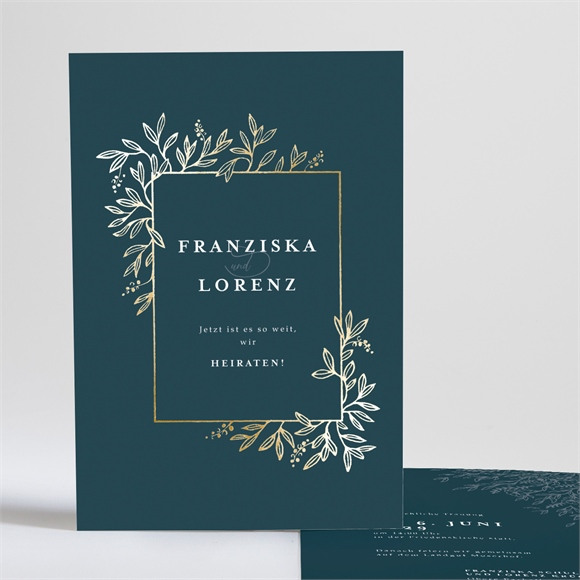 Einladungskarte Hochzeit Königsblau réf.N241197