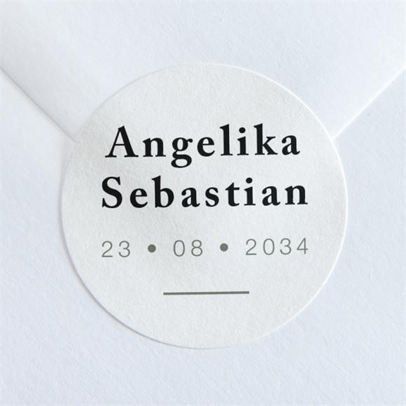 Aufkleber Hochzeit Monogramm réf.N36031