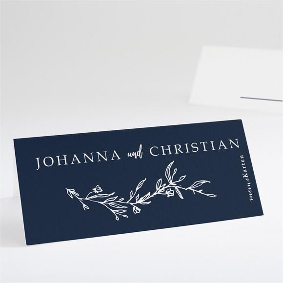 Tischkarte Hochzeit Mineralblau réf.N440734