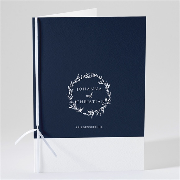 Kirchenheft Hochzeit Mineral Blau réf.N491141