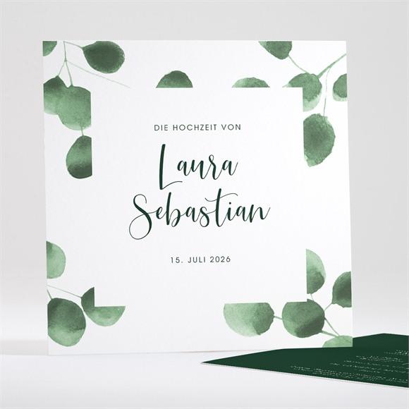 Einladungskarte Hochzeit Eukalyptus réf.N35189