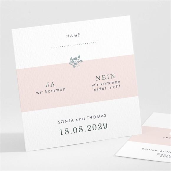 Antwortkarte Hochzeit Blumenkranz réf.N301177