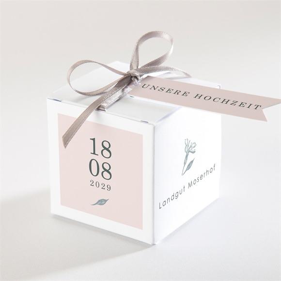 Zuckermandel Schachtel Hochzeit Blumenkranz réf.N340270