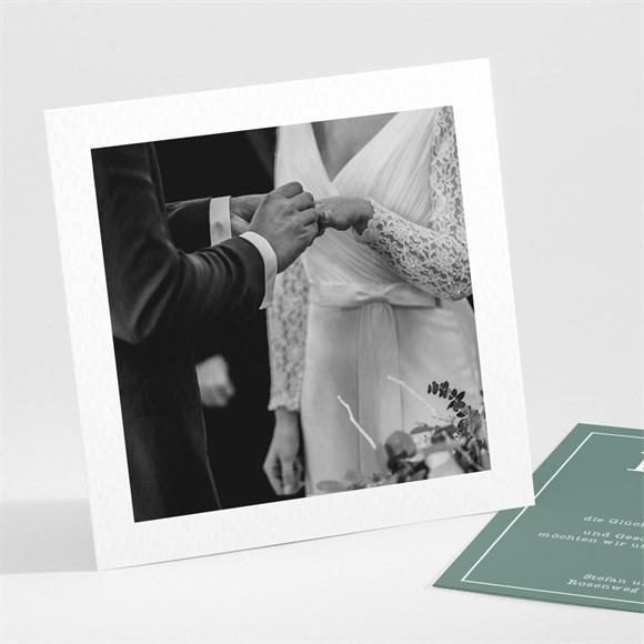 Danksagungskarte Hochzeit Polaroid der Liebe réf.N301164